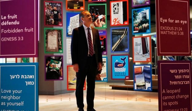 Steve Green, the owner of Hobby Lobby at the Museum of the Bible, Oct. 30, 2017, in Washington