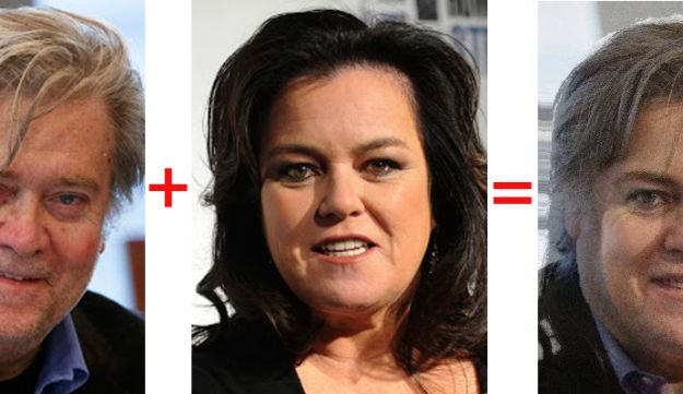 Rosie O'Donnell and Steve Bannon. The likeness is uncanny