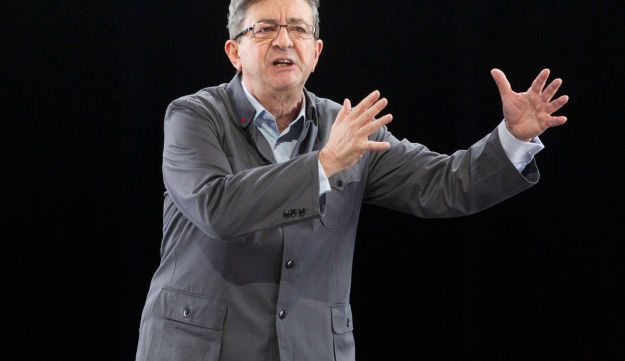Jean-Luc Melenchon, leader of the French radical left, at a rally in Chassieu, France, February 5, 2017.