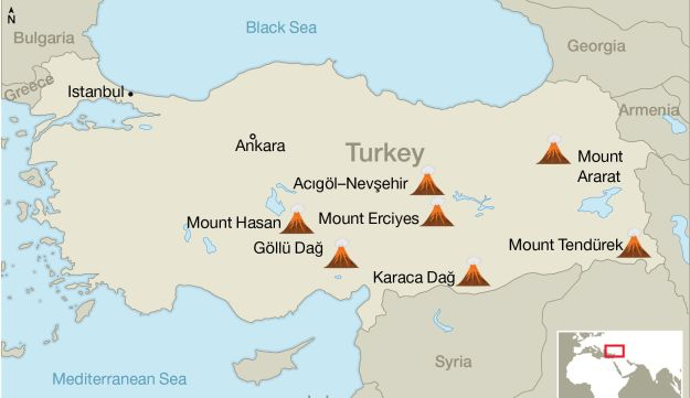 Some of Turkey's volcanoes