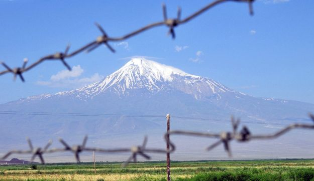 Mt Ararat, which is actually a volcano that last erupted in 1840.
