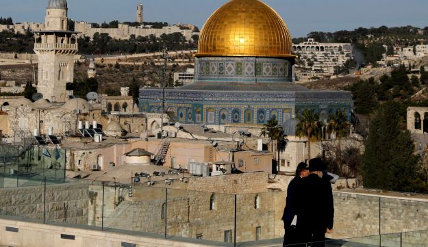 The Dome of the Rock and Jerusalem's Old City December 4, 2017