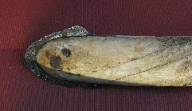 Inuit harpoon, made from bone with meteorite iron.