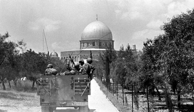 FILE PHOTO: Israeli soldiers approach the Dome on the Rock June 7,1967 on the Temple Mount in Jerusalem, Israel on the day of its capture from Jordanian forces in the June 1967 Middle East War.