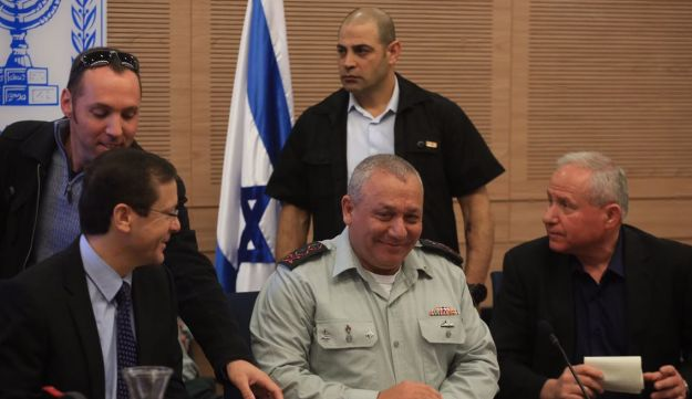 IDF Chief of Staff Lt. Gen. Gadi Eisenkot at the Knesset Foreign Affairs and Defense Committee, February 22, 2017.