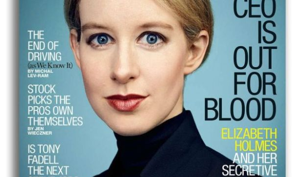 Theranos founder Elizabeth Holmes on the cover of Fortune.