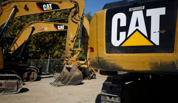 Caterpillar Inc Hydraulic Excavators Sit At The Whayne Supply Co Dealership In Lexington