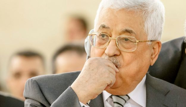 Palestinian President Mahmoud Abbas at the European headquarters of the United Nations in Geneva, Switzerland, February 27, 2017.
