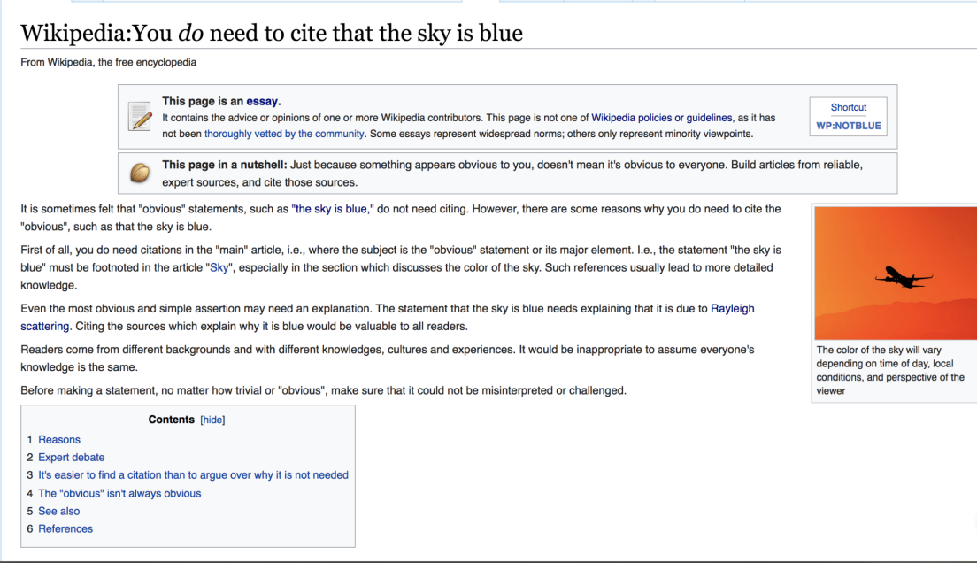 a2ca8dacbf14 Is the fact that the sky is blue so obvious that it doesn t need to be  verified  Wikipedia debates Wikipedia ...