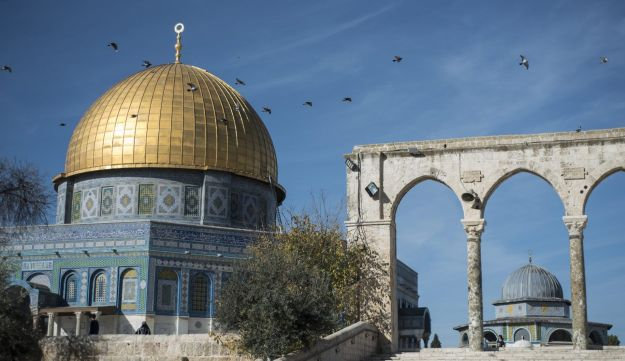 The entrance to the Dome of The Rock on Temple Mount in the Old City in Jerusalem. Dec. 17, 2017