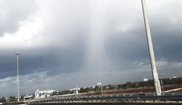 Heavy downpour outside Tel Aviv on Monday, December 25.