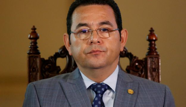 Guatemalan President Jimmy Morales at the National Palace in Guatemala City, November 24, 2017.
