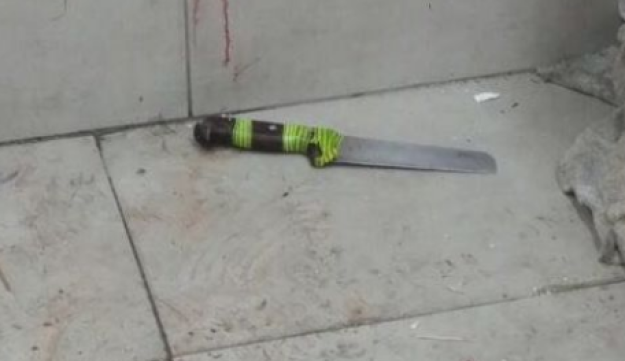 The knife used in the overnight stabbing attack.