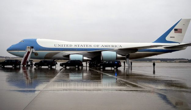 Air Force one, a modified Boeing 747
