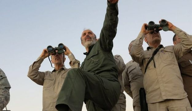 File photo: Iran's army chief of staff Maj. Gen. Mohammad Bagheri in the northern province of Aleppo, Syria on October 20, 2017.