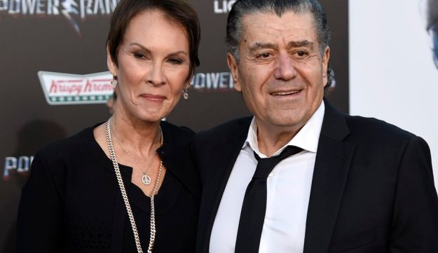 Haim Saban and Cheryl Saban arrive at the premiere of Saban's 'Power Rangers' in Los Angeles, March 22, 2017.