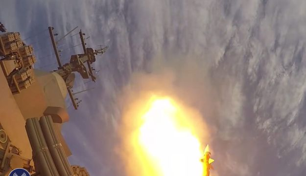 The 'Barak 8' missile defense system undergoes testing in 2015.