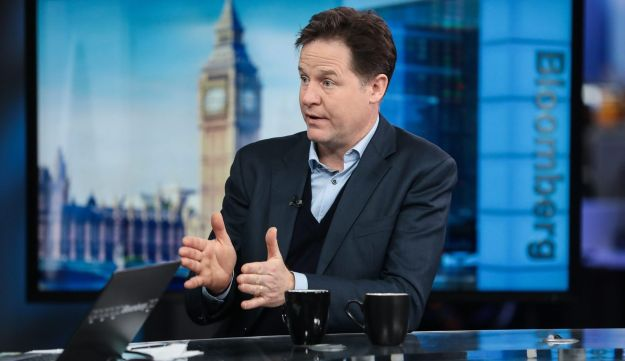 Nick Clegg, MP for the Liberal Democrat Party, at a television interview in London on Feb. 9, 2017.