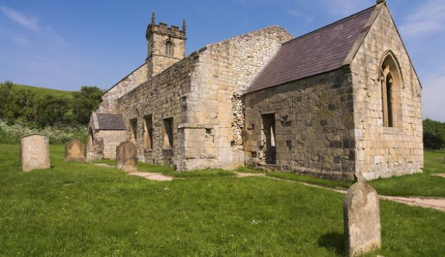 St. Martin's Church in the abandoned Yorkshire village of Wharram Percy