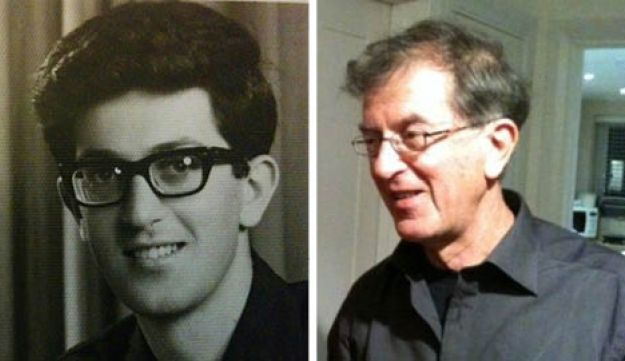 Phil Bloom, in 1967 and in 2017.