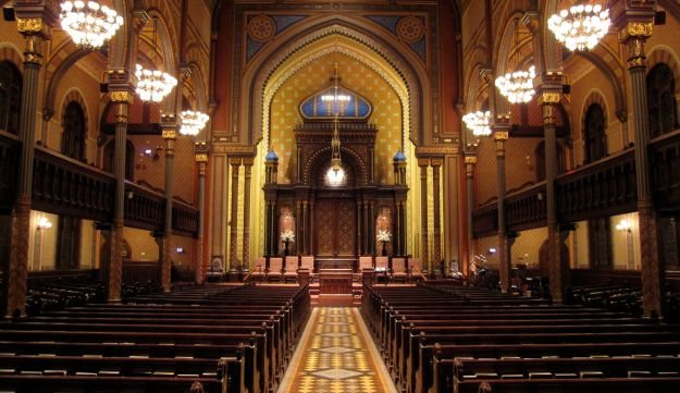 An inside shot of Central Synagogue on Lexington Avenue in New York.