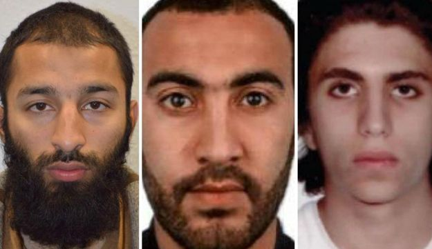 Youssef Zaghba, identified as the the third man shot dead by police officers during the attack in London is seen in an undated image, with the other two men, handed out by the Metropolitan Police.