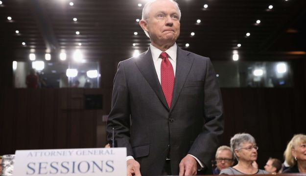 Attorney General Jeff Sessions appears before the Senate Intelligence Committee in Washington, June 13, 2017.