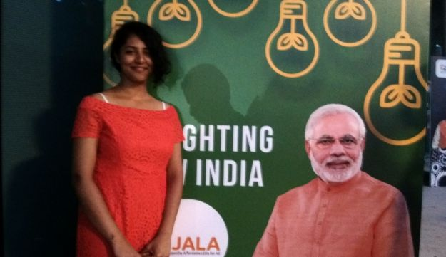 Riya Thomas at a Tel Aviv event headlined by Indian Prime Minister Narendra Modi, July 5, 2017.
