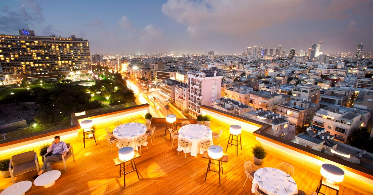 Tel Aviv Jerusalem Karte.Israeli Rooftop Escapes The Top Places To Eat Drink And Feel The