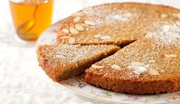 Honey cake. Another dish for a sweet holiday.