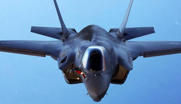 A U.S. Marine Corps F-35B joint strike fighter jet.