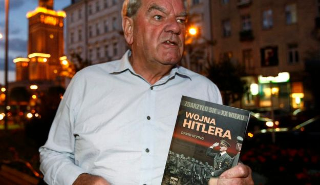 David Irving, the British Holocaust-denier, speaks to Reuters during an interview in Warsaw during a 'tour' of Holocaust sites. September 21, 2010