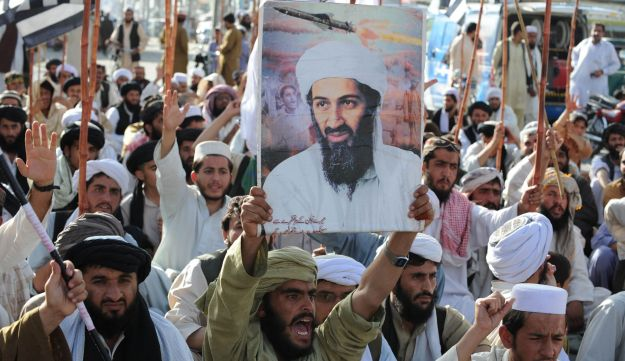 Supporters of the hardline pro-Taliban party Jamiat Ulema-i-Islam-Nazaryati protest in Quetta after the killing of Osama Bin Laden by U.S. Special Forces, May 2, 2011.