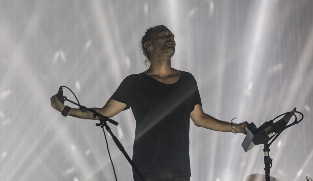Radiohead's Thom Yorke performing in Tel Aviv, July 19, 2017.