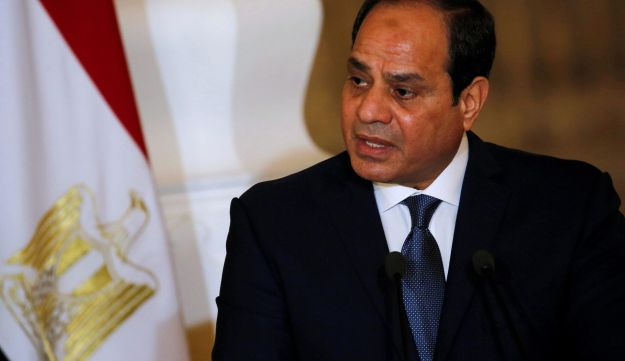 Egypt's President Abdel Fattah al-Sissi speaks during a news conference at the presidential palace in Cairo, March 2, 2017.