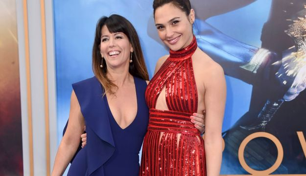 """Patty Jenkins, left, with Gal Gadot at the world premiere of """"Wonder Woman"""" in Los Angeles, May 2017."""