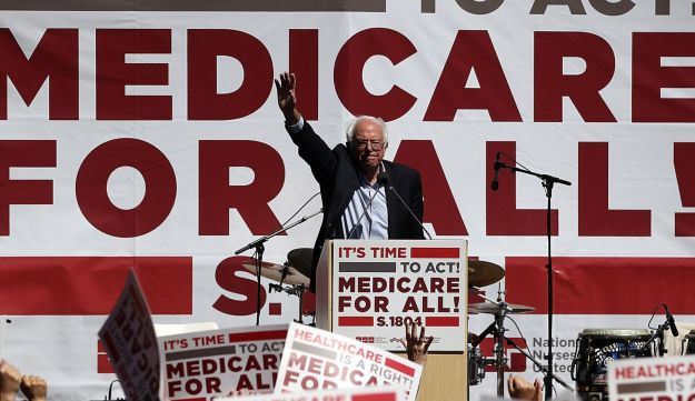 FILE PHOTO: U.S. Sen. Bernie Sanders (I-VT) speaks during a health care rally at the 2017 Convention of the California Nurses Association/National Nurses Organizing Committee on September 22, 2017 in San Francisco, California.