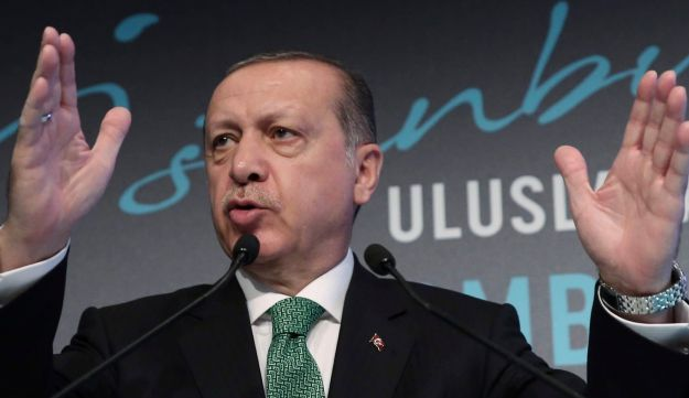 Turkish President Recep Tayyip Erdogan says that Turkey would take political, economic as well as military measures against Iraqi Kurds' steps toward independence. Istanbul, Sept. 25, 2017