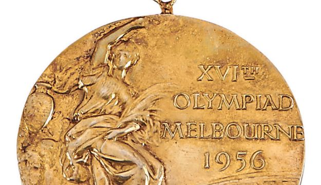 Isaac Berger's gold medal from the 1956 Olympics in Melbourne
