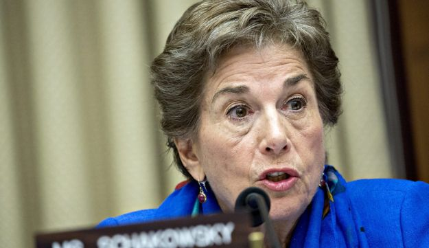 Representative Jan Schakowsky, a Democrat from Illinois and ranking member of the Digital Commerce and Consumer Protection Subcommittee, makes an opening statement during a hearing on the Equifax Inc. data breach in Washington, D.C., U.S., on Tuesday, Oct. 3, 2017. Former Equifax Inc. Chief Executive Officer Richard Smith said the credit-reporting company didn't meet its responsibility to protect sensitive consumer information, confirming that the failure to fix a software vulnerability months ago led to the theft of more than 140 million Americans personal data. Photographer: Andrew Harrer/Bloomberg