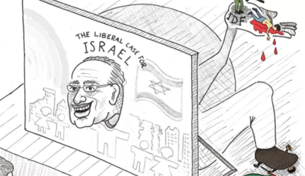 The Anti-Semitic cartoon was published in The Daily California, UC Berkeley's campus publication. The school's chancellor condemned the cartoon.