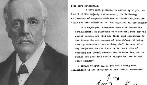 Lord Balfour and his famous declaration of November 2, 1917.