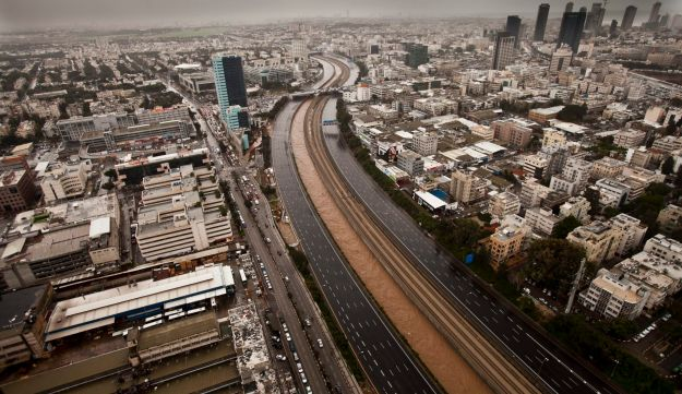 The Ayalon Highway flooded in 2013, but Waze users reported that the app was still directing them to the closed road.