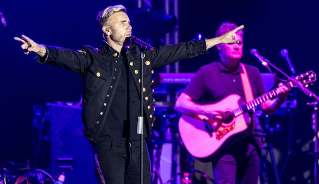 Gary Barlow, playing live in Tel Aviv. Promised to come back.