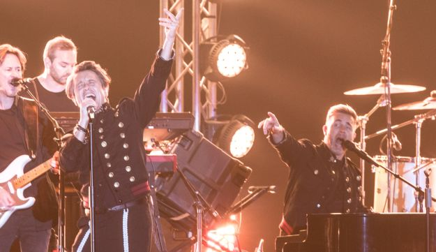 Take That in Tel Aviv. Learned some basic Hebrew to talk with the excited audience.