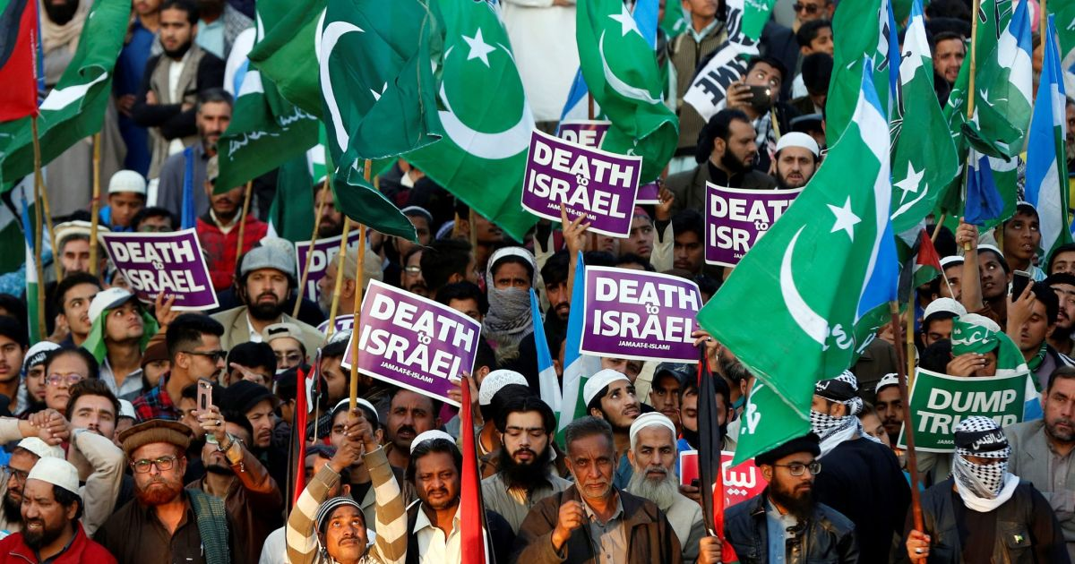 Image result for pakistan israel PROTEST news