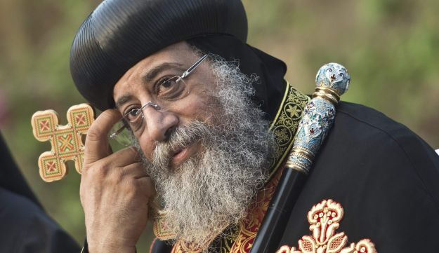 Leader of Egypt's Coptic Christians, Pope Tawadros II, in Cairo. June 09, 2013