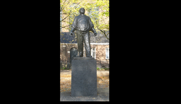The Dockworker, in Amsterdam, in memory of the February 1941 strike  launched almost spontaneously as an expression of Dutch opposition to the anti-Jewish actions being taken by the country's German occupiers.