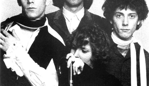 "Velvet Underground, left to right: Lou Reed, Sterling Morrison, Maureen ""Moe"" Tucker (bottom) and Doug Yule (right)."