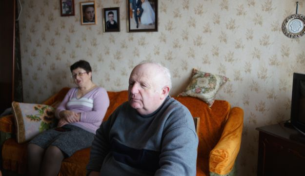 Yefim Vygodner and wife Tamara at their home in Bershad, March 9, 2017.